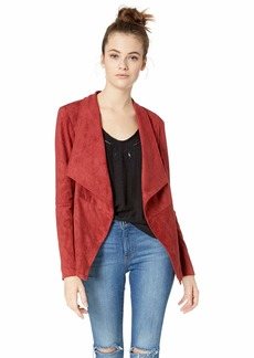 BB Dakota Junior's Wade Faux Suede Jacket and Knit Undersleeve br