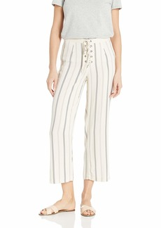 BB Dakota Junior's Whatever it Takes Stripe lace up Cropped Pant