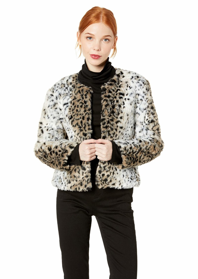 BB Dakota Junior's Wild Thing Snow Leopard Faux Fur Jacket