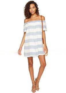 BB Dakota Kash Striped Off the Shoulder Dress