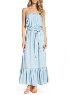 BB Dakota Kate Convertible Strapless Chambray Maxi Dress