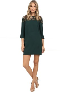 BB Dakota Keagan Lace Yoke Heavy Crepe Dress