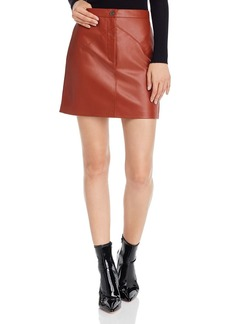 BB DAKOTA Keep Livin Faux Leather Skirt