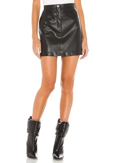 BB Dakota Keep Livin Vegan Leather Mini Skirt