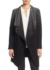 BB Dakota 'Kinney' Ombré Drape Front Coat