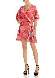 BB DAKOTA Kirsten Floral Print Wrap Dress