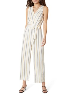 BB Dakota Know Your Stripe Tie Waist Jumpsuit