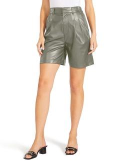 BB Dakota Kokomo High Waist Faux Leather Shorts