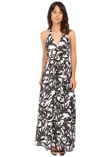 BB Dakota Larissa Lotus Printed Reverse Crepon Strappy Maxi Dress