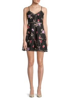 BB Dakota Leean Floral A-Line Dress