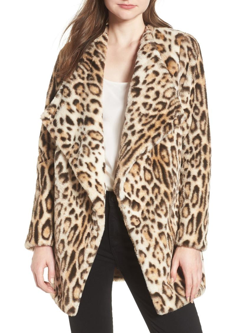18a61d8014db BB Dakota BB Dakota Leopard Faux Fur Jacket | Outerwear