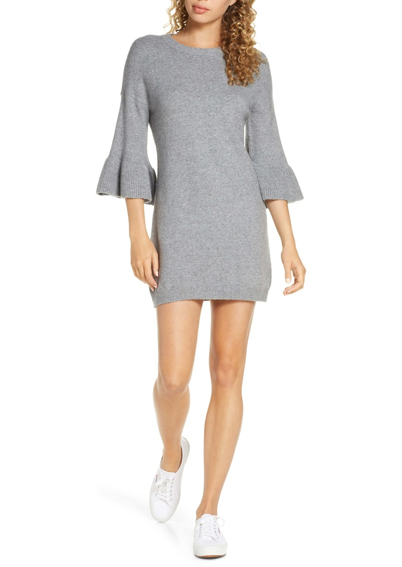BB Dakota Let It Snow Ruffle Cuff Sweater Dress