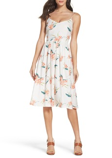 BB Dakota Lila Floral Print Midi Dress