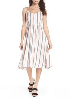 BB Dakota Lilla Stripe Midi Dress