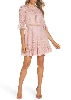BB Dakota Love on Top Floral Lace Dress
