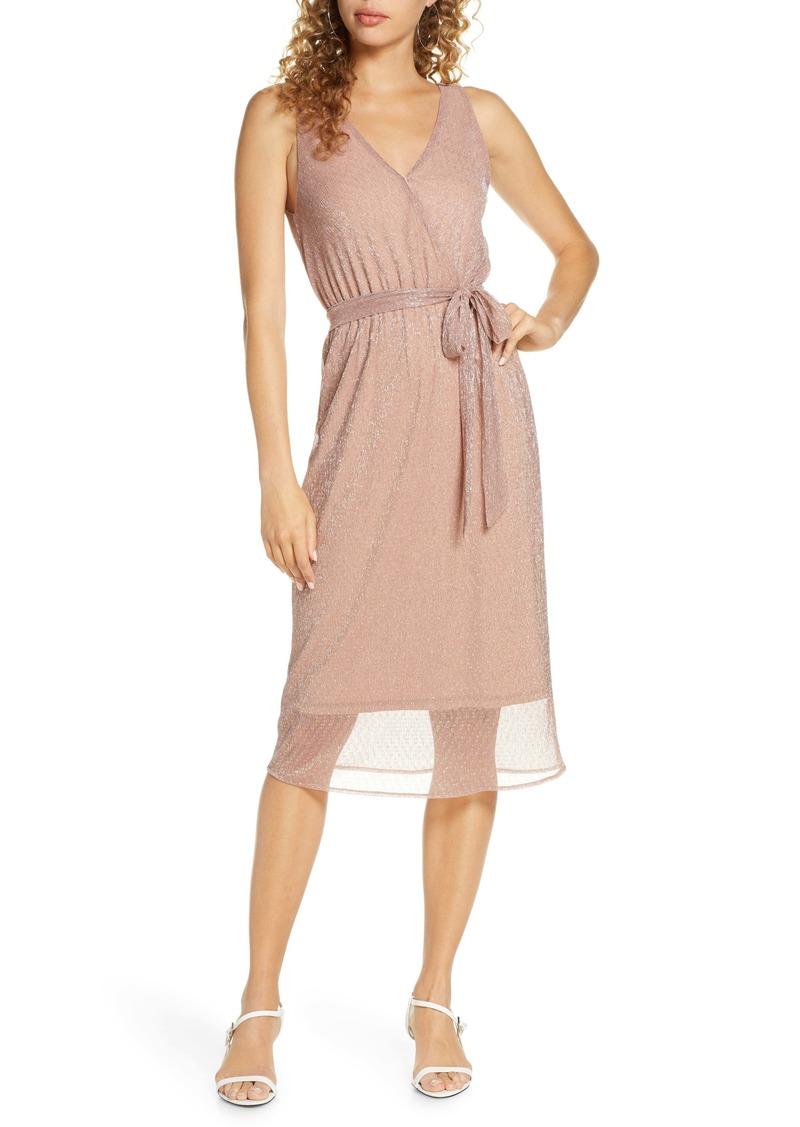 BB Dakota Love to Love You Faux Wrap Dress