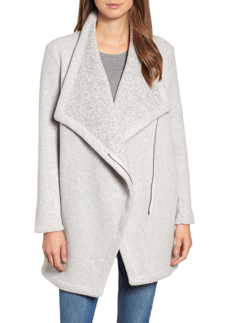 fed835a08 SALE! BB Dakota BB Dakota Maggie Brushed Fleece Drape Collar Coat