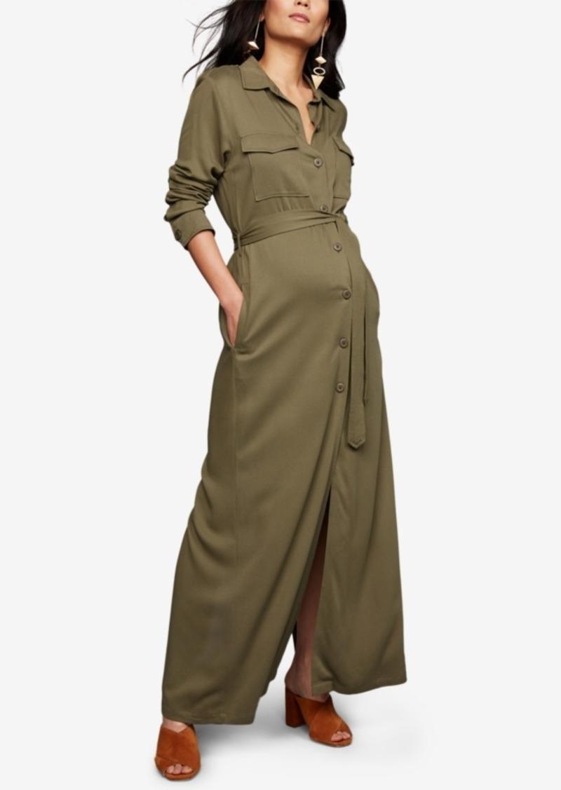 Bb Dakota Maternity Button-Front Maxi Dress