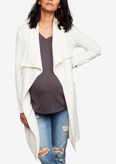 Bb Dakota Maternity Draped Cotton Jacket