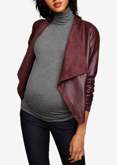 Bb Dakota Maternity Draped Faux-Leather Jacket