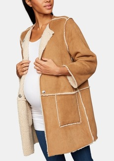 Bb Dakota Maternity Faux-Suede Jacket
