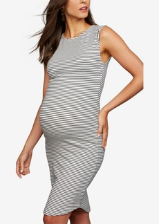 Cupcakes and Cashmere Striped Maternity Sheath Dress