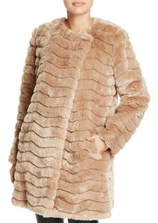 BB DAKOTA McCoy Quilted Faux Fur Jacket