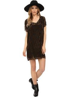 BB Dakota Milan Burnout Velvet Poncho Dress