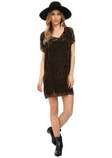 BB Dakota Milan Burnout Velvet Poncho Dress
