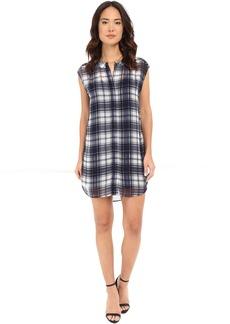 BB Dakota Nelson Plaid Chiffon Shirt Dress with Slip