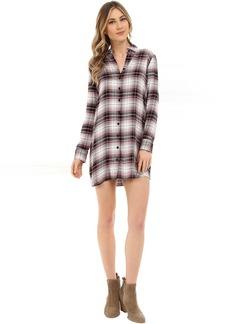 BB Dakota Nikki Yarn Dyed Rayon Shirt Dress