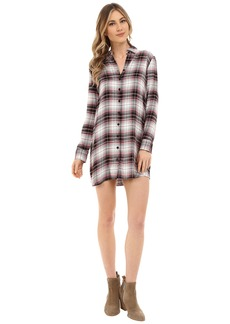 BB Dakota Nikki Yarn Dyed Rayon Shirt Dress