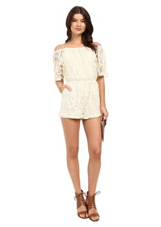 BB Dakota Nikola Off the Shoulder Lace Romper