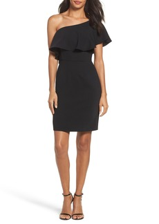 BB Dakota Occasion Cale One-Shoulder Crepe Sheath Dress