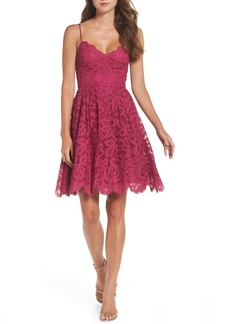 BB Dakota Occasion Celeste Scalloped Lace Fit & Flare Dress