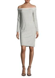 BB Dakota Off-The-Shoulder Striped Dress