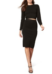 BB Dakota On Cloud Wine Pencil Skirt