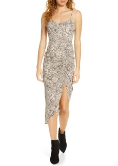 BB Dakota On the Prowl Party Animal Print Ruched Dress