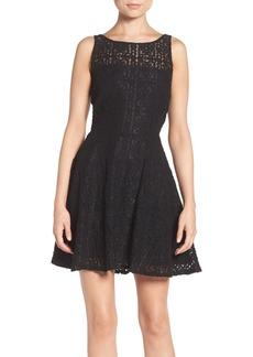 BB Dakota Paloma Lace Fit & Flare Dress