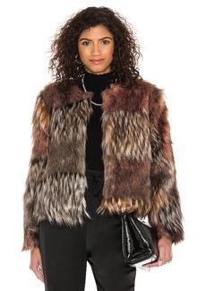 BB Dakota by Steve Madden Patch My Drift Faux Fur Jacket