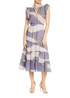 BB Dakota Patchwork Print Midi Dress
