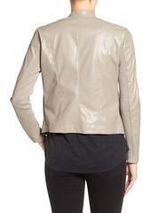 BB Dakota 'Peppin' Drape Front Faux Leather Jacket