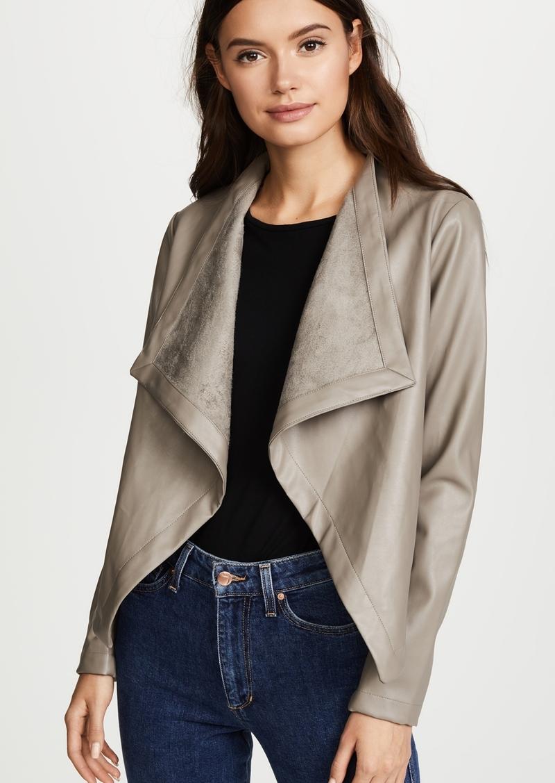 BB Dakota Peppin Vegan Leather Drapey Jacket