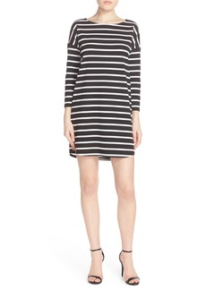 BB Dakota 'Phillipa' Stripe Ponte Shift Dress