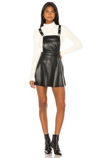 BB Dakota Pinafore Your Love Faux Leather Dress