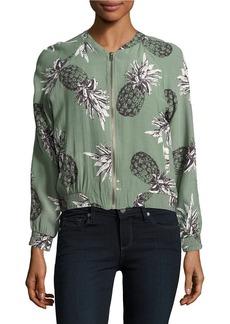 BB DAKOTA Pineapple Patterned Bomber Jacket