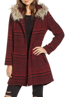 BB Dakota Play it Cool Coat with Faux Fur Trim