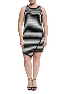 BB Dakota Plus Agata Striped Knit Dress