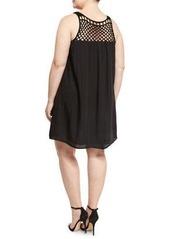 BB Dakota Plus Kapri Crochet-Yoke Dress