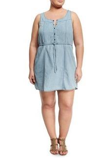 BB Dakota Plus Nuria Chambray Sleeveless Dress
